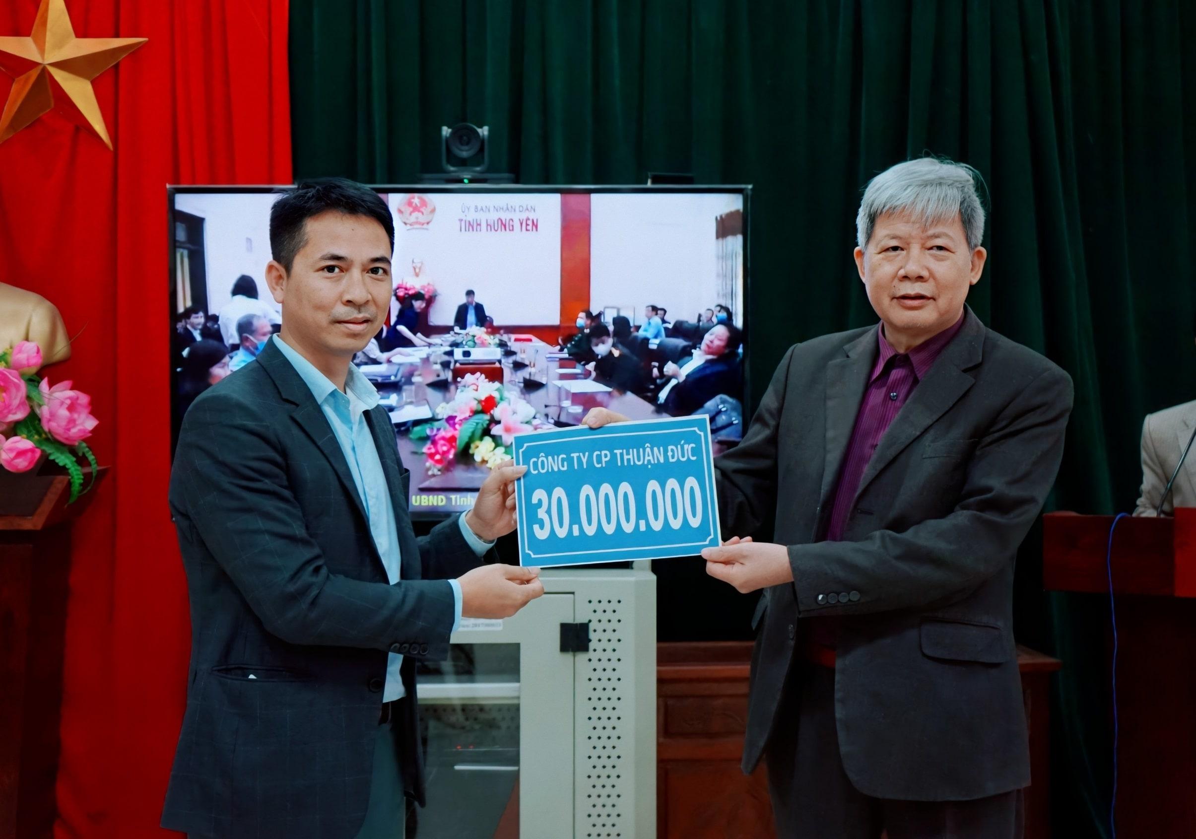 Thuận Đức ủng hộ 50 triệu đồng chung tay phòng chống dịch Covid-19